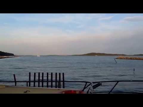 Insel Vilm vom Hafen Lauterbach aus gesehen