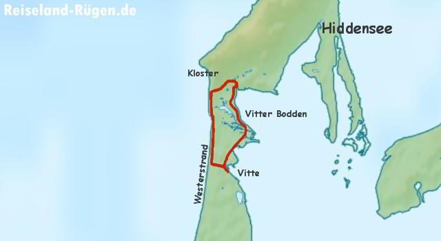 Wanderroute Hiddensee