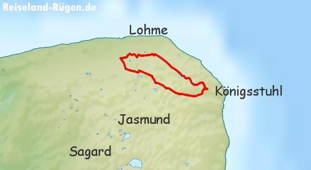 Wanderroute Nationalpark Jasmund