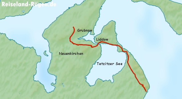 Wanderroute Tetzitzer See