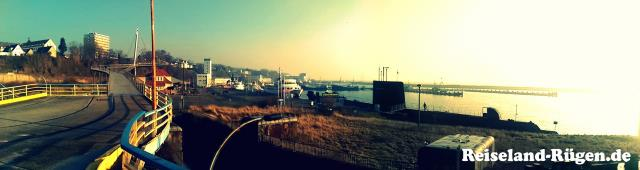 Blick über Hafen von Sassnitz