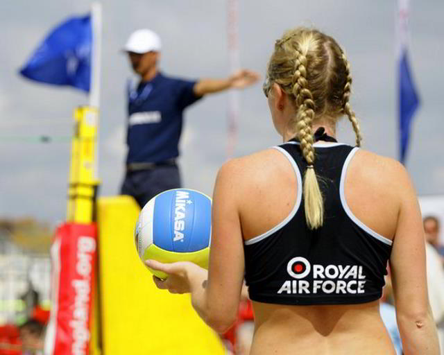 Beachvolleyball in Binz