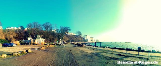 Ostsee und Seebrücke am Sassnitzer Hafen