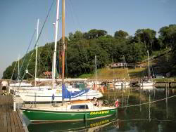 Schiffsanleger in der Ortschaft Lohme