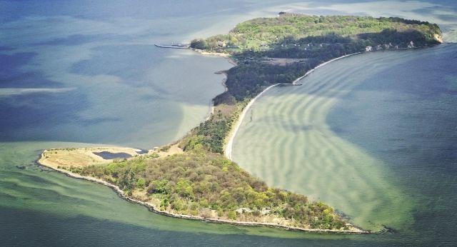 Die Insel Vilm von oben